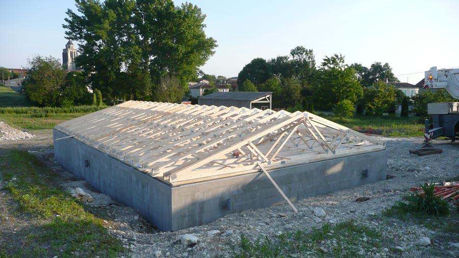 chantier construction maison bois cologique ecop habitat. Black Bedroom Furniture Sets. Home Design Ideas