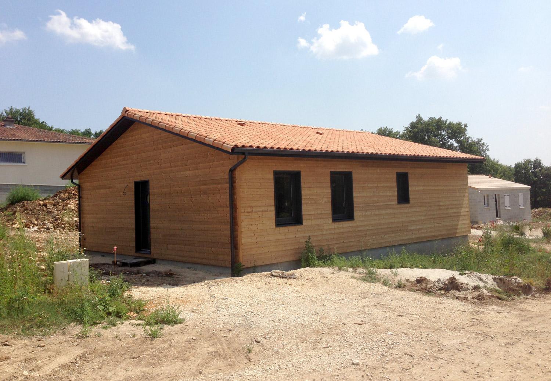 vue ext rieure d 39 une maison ossature bois ecop habitat. Black Bedroom Furniture Sets. Home Design Ideas